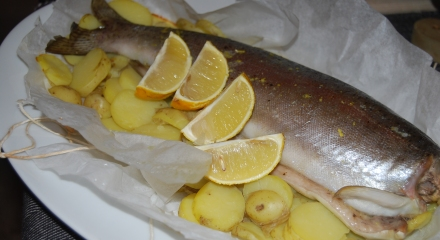 Trout in a parcel