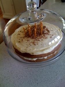 White Choc Coffee Layer Cake